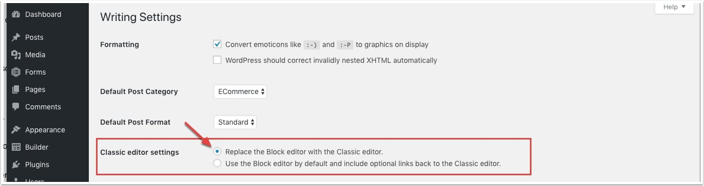 wordpress-classic-editor-settings