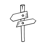 Sign - 2 Directions